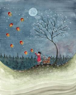 BijdeHansje - Girl with lampions