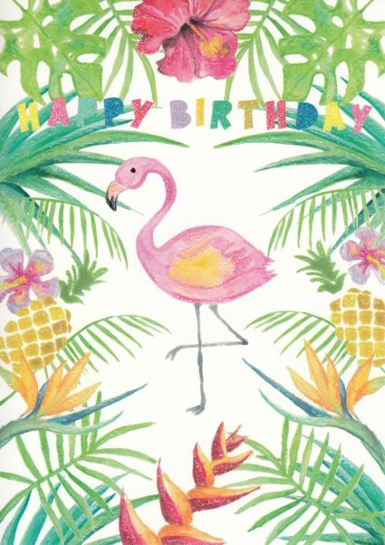 Madebymaggie - Happy Birthday (Flamingo)