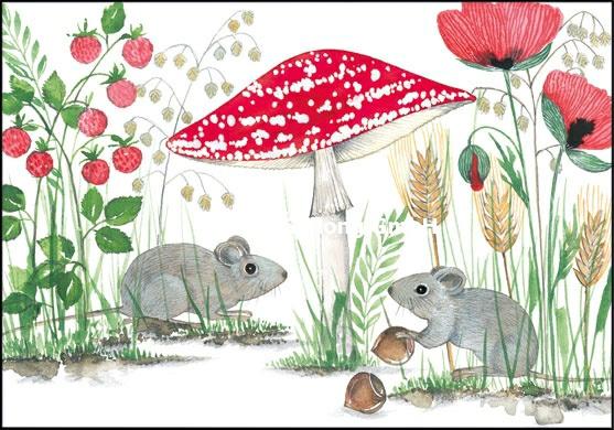 Kerstin Heß - Muizen onder paddenstoel
