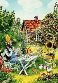 Sven Nordqvist - Pannenkoeken eten in de tuin