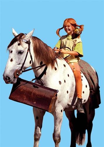 Pipi Langkous - Op het paard