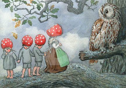 Elsa Beskow - Uil en kabouter kinderen