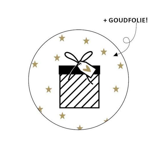 Sticker / Sluitsticker 'Cadeau' (Rond 40mm)  10 stuks €0,99