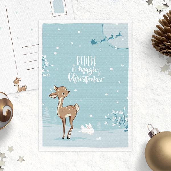 Studio Draak - Oh deer it's Christmas (Versie blauw)