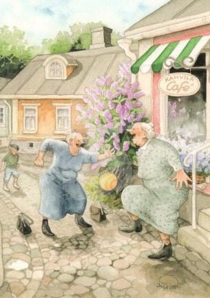 Inge Löök : Voor het cafe - NR 9