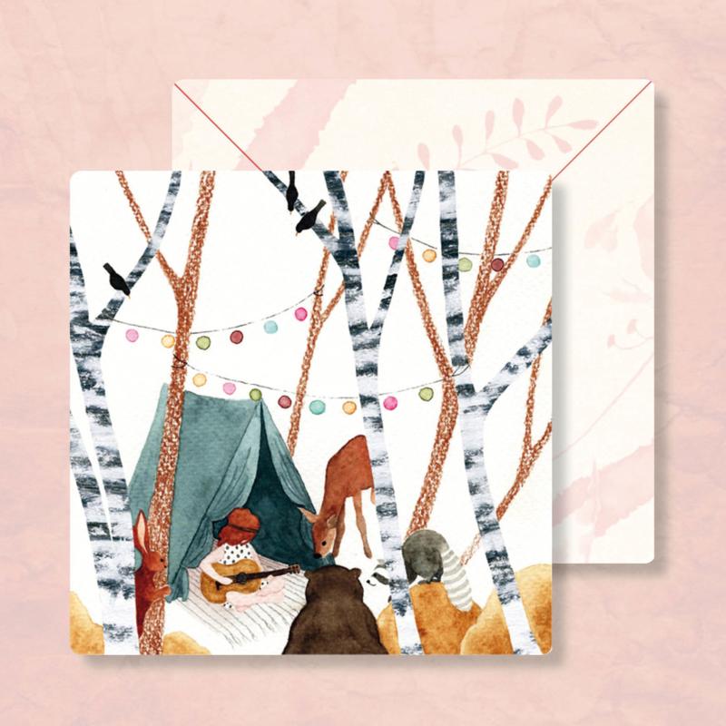 IsaBella Illustrations - Bij de tent
