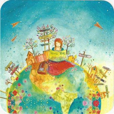 Editions des Correspondances : World Map door Jehanne Weyman