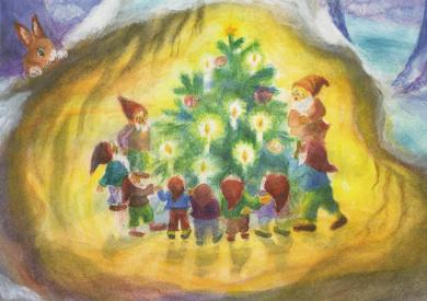 Dorothea Schmidt - Kabouters rondom de kerstboom