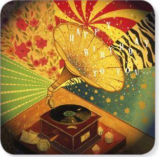 Editions des Correspondances :  Happy Birthday Grammofoon door Jehanne Weyman