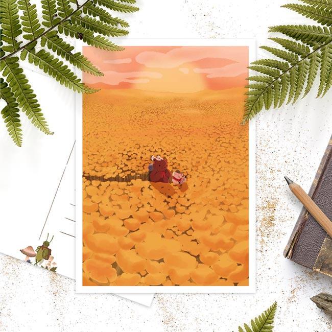Studio Draak -  'Op avontuur in de natuur'  Versie : bloemenveld