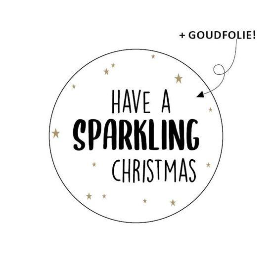 Sticker / Sluitsticker 'Have a sparkling christmas' (Rond 40mm) 10 stuks €0,99