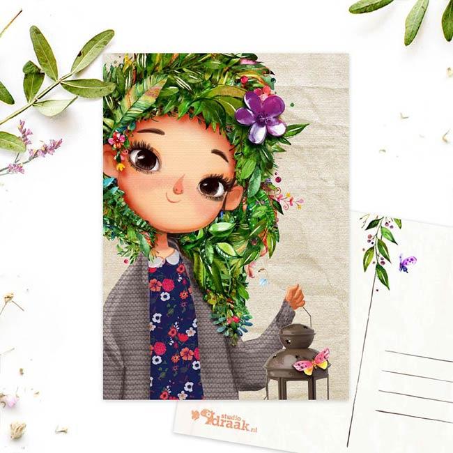 Studio Draak - 'Femmes floral' versie Lampion