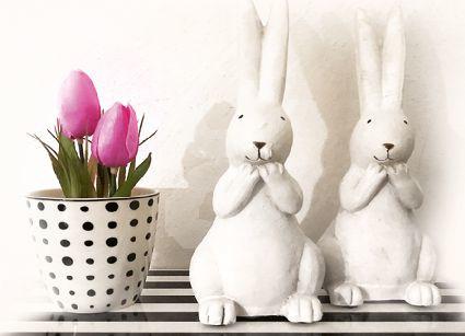 FotoEigenArt - Tulpen en paashazen