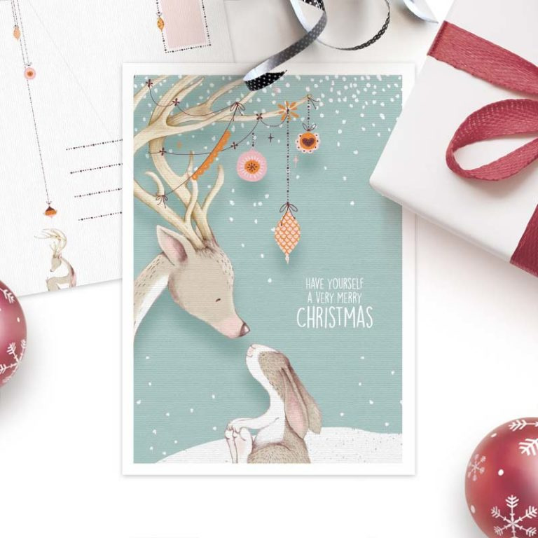 Studio Draak - Very merry Christmas (Versie Blauw)