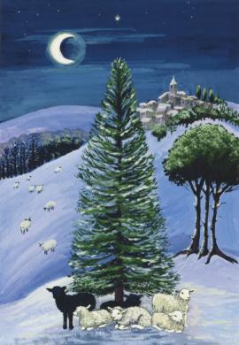 Margaret Loxton  - Schapen in een winters landschap