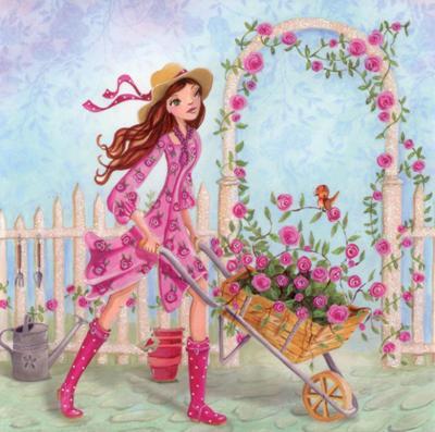 Cartita Design - Kruiwagen vol met rozen