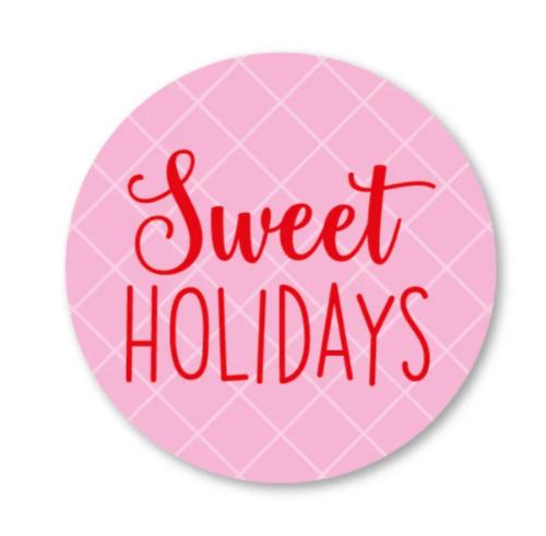 Sticker / Sluitsticker Sweet holidays (Rond 40mm) Studio schatkist 5 stuks voor €0,80