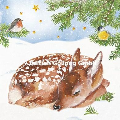 Carola Pabst - Hertje in de sneeuw