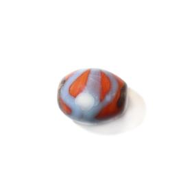 Oranje glaskraal, met de hand beschilderd