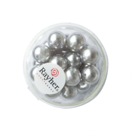 Renaissance glass pearl Silvergrey 10 mm from Rayher
