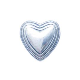Metaalkleurig hangend hart