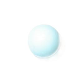 Lichtblauwe, ronde glaskraal