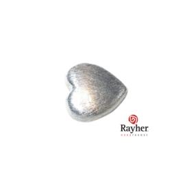 Zilveren hart kraal 12x12 mm