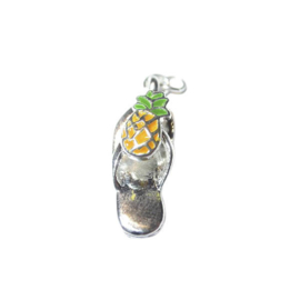Flip flop with fruit (Pineapple) Charm made of metal