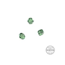 Light Emerald Swarovski bicone bead 4 mm