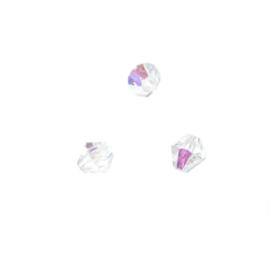 Bergkristallen, Tsjechische facetkraal 5mm