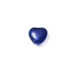 Parel Donkerblauw, hartje 8 mm