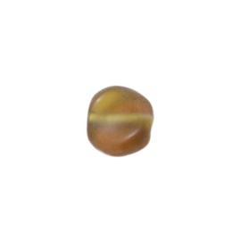 Matte, bruine gedraaide glaskraal