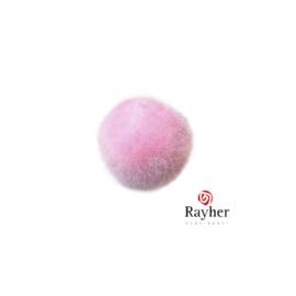 Roze pompon 20 mm van Rayher