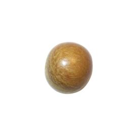 Lichtbruine ronde houten kraal