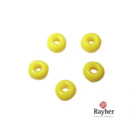 Yellow Indian bead 4,5 mm, Rocailles Rayher