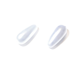 Druppel wasparel van Rayher; Wit 14 x 6 mm