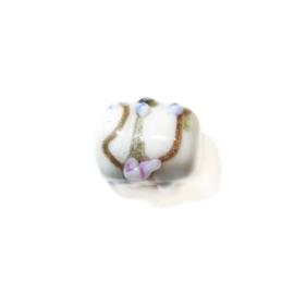 Italian Style witte langwerpige kraal