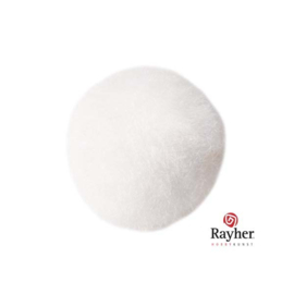 Witte pompon 25 mm van Rayher
