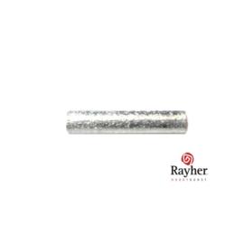 Zilveren buisje, rond 15 mm