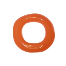 Oranje polyester ring