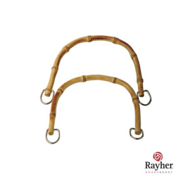 Bamboo bag handle, light brown, from Rayher
