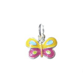 Vlinder bedel gemaakt van metaal met vrolijke kleurtjes