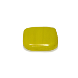 Platte gele glaskraal