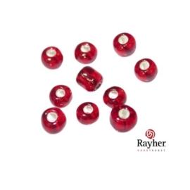 Rode rocaille met zilverkern 2,6 mm  van Rayher