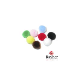 Pompons gemengd 15 mm van Rayher, 10 stuks