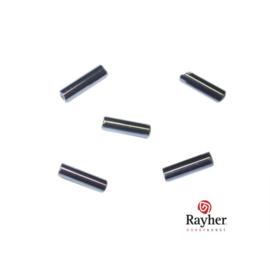 Zwarte glasstift 7/2 mm met zilverkern
