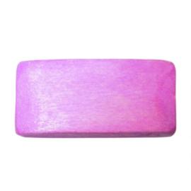 Roze platte houten kraal