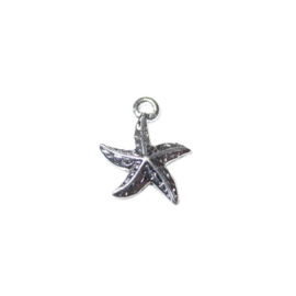 Silver colored Seastar Charm made of metal