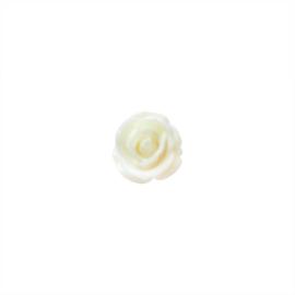 Cremekleurige Acryl roos 13 mm