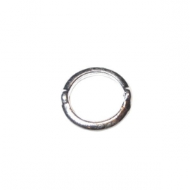 Metal ring with space for bead inside